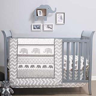 The Peanutshell Elephant Walk Crib Bedding Set   3 Piece Unisex Nursery Set   Crib Quilt, Crib Sheet, Crib Skirt Included