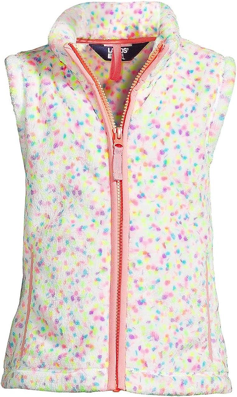 Lands' End Girls Softest Fleece Vest