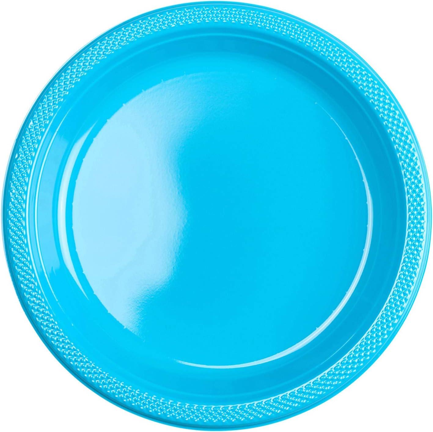 Amscan Big Party Pack Plastic Dessert Plates, 7
