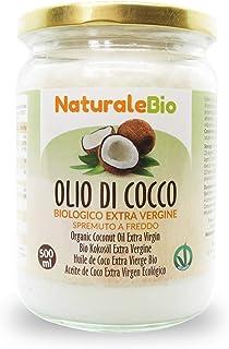 comprar comparacion Aceite de Coco Ecológico Extra Virgen 500 ml. Crudo y prensado en frío. 100% Orgánico, Puro y Natural. Aceite bio nativo n...