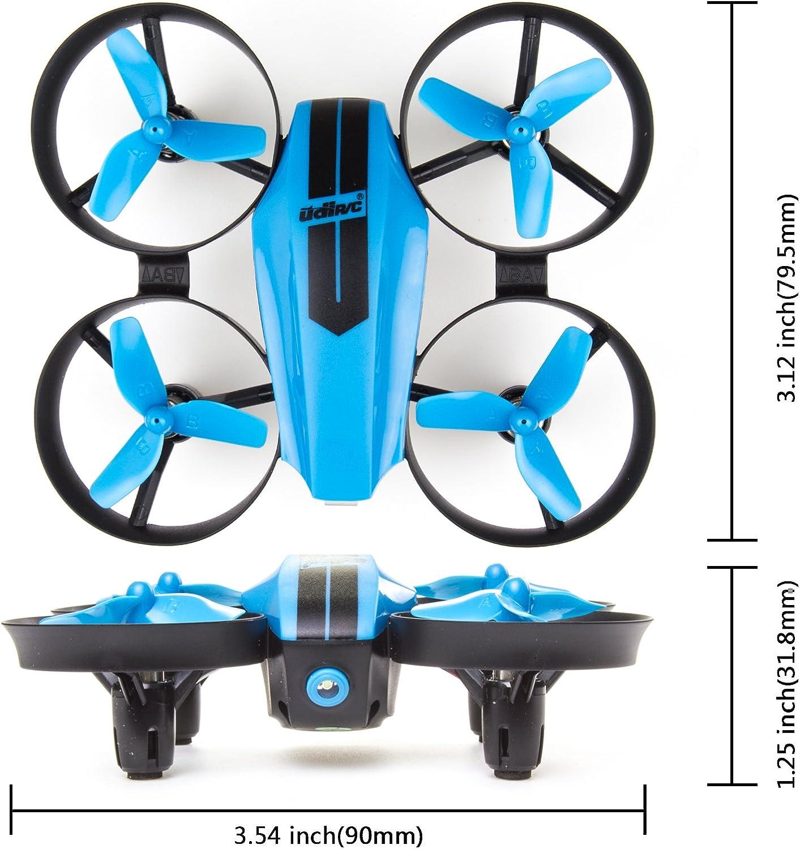 Blue UDI U46 Mini Drone for Kids 2.4Ghz RC Drones with Auto Hovering Headless Mode Nano Quadcopter