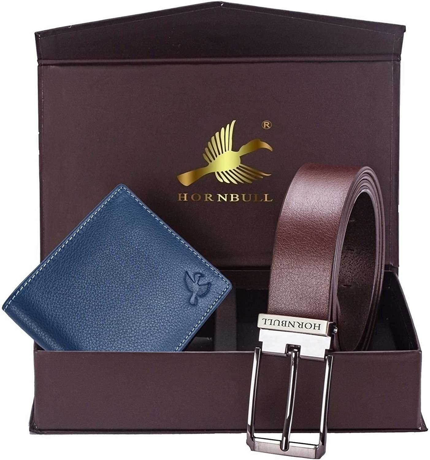 Hornbull Memphis Mall Men's Beauty products Brown Wallet and Belt Combo BW9255