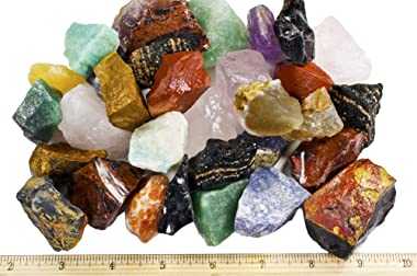 """3 lbs of a Bulk Rough SOUTH AMERICAN Stone Mix - A Beautiful Stone Mix - Large 1"""" Natural Raw Stones & Fountain Rocks"""