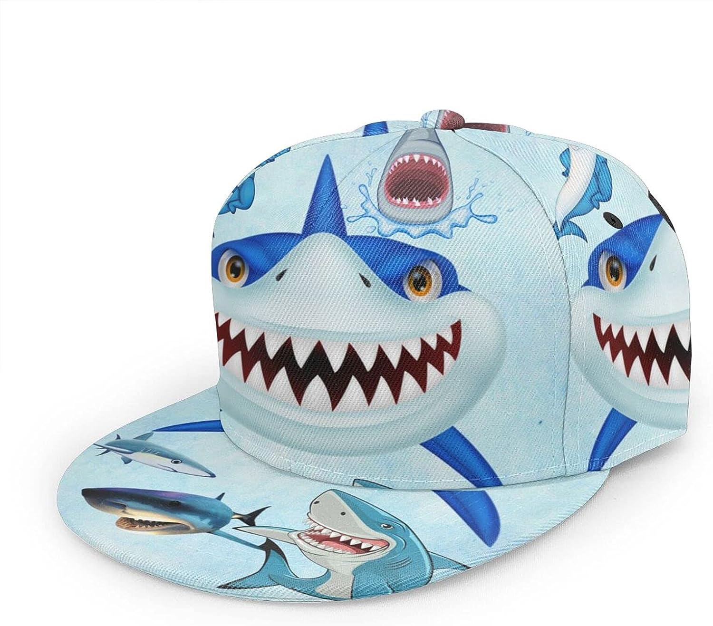 Emtovp Baseball Cap Men Women Snapback Flat Bill Hip Hop Hat with Adjustable Strap for Boys Girls