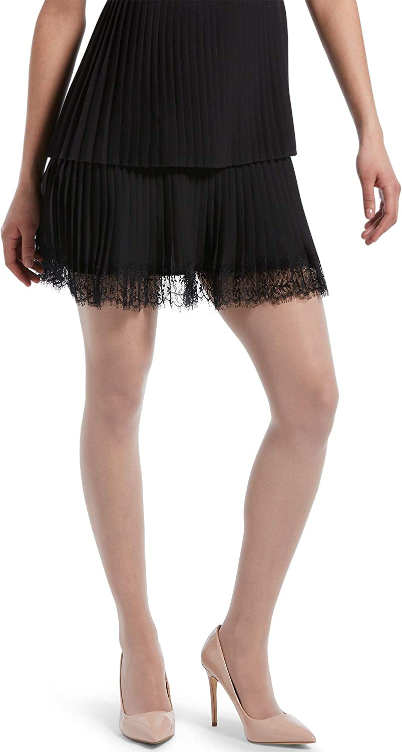 HUE Women's Graduated Compression Sheer with French Lace Panty