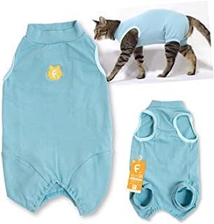 犬猫の服 full of vigor_猫用シンプル袖なしつなぎ_7/ブルー_CM_猫用