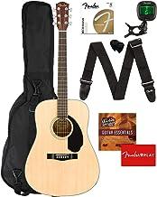 Fender CD-60S Dreadnought Acoustic Guitar - Natural Bundle with Gig Bag, Tuner, Strap, Strings, Picks, Fender Play Online ...