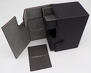 docsmagic.de Premium Magnetic Tray Box (80) Black + Deck Divider - MTG PKM YGO - Caja Negra