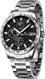 Relojes Hombre Relojes Grandes de Pulsera Militar Impermeable Cronografo Acero Inoxidable Reloj Hombres Elegante Diseño Analogico