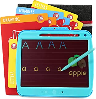 Gamenote LCD Drawing Tablet for Kids with Tracing Activity Cards & Protective Sleeve, Rechargeable Doodle Writing Pad Boar...