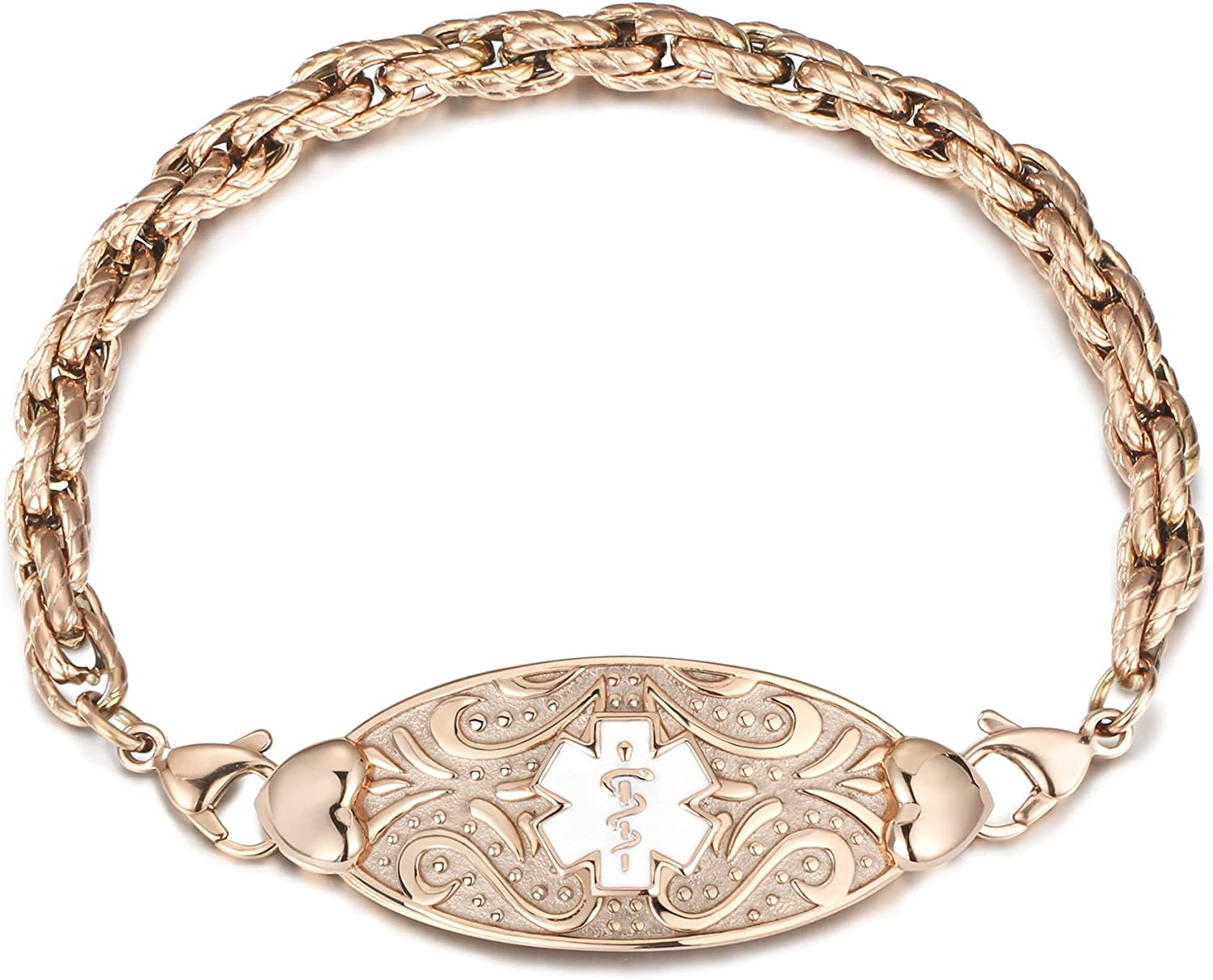 MunsteryAid Custom Medical Alert ID Women P Spring new work one after another Braided Bracelet for trend rank