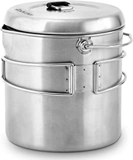 Solo Stove Pot 1800: Stainless Steel Companion Pot for Solo Stove Titan. Great for Backpacking, Camping, Survival