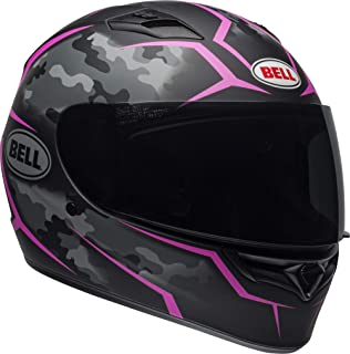 Bell Qualifier Full-Face Motorcycle Helmet (Stealth Camo Matte Black/Pink, Medium)