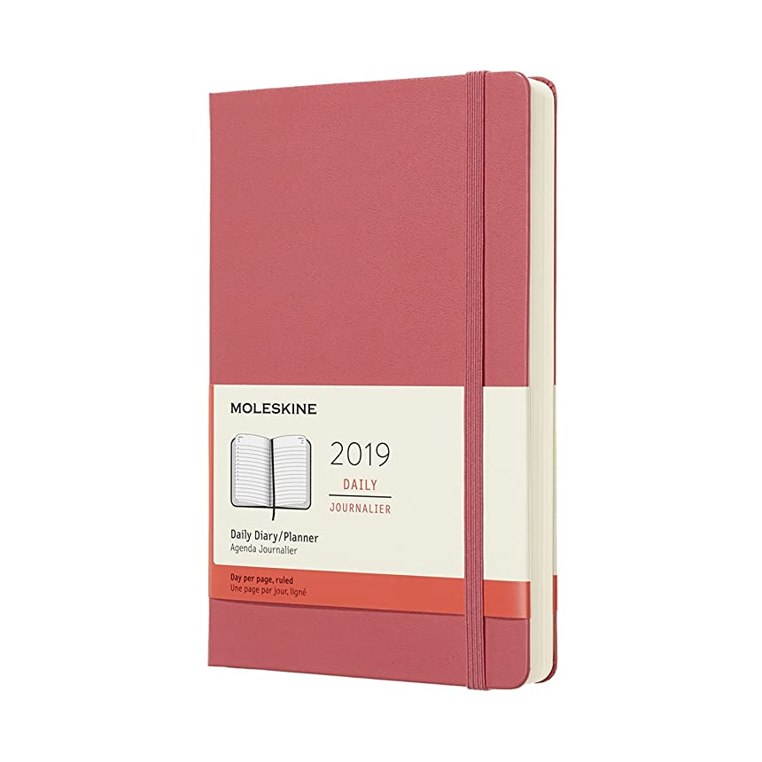 死の顎骨の折れる導入するMoleskine 2019 12M Daily Large Daisy, Large, Daily, Pink Daisy, Hard Cover (5 x 8.25)