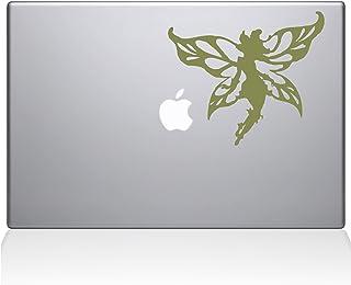 "The Decal Guru Winged Fairy Macbook Decal Vinyl Sticker  - 13"" Macbook Air - Gold (1233-MAC-13A-G)"