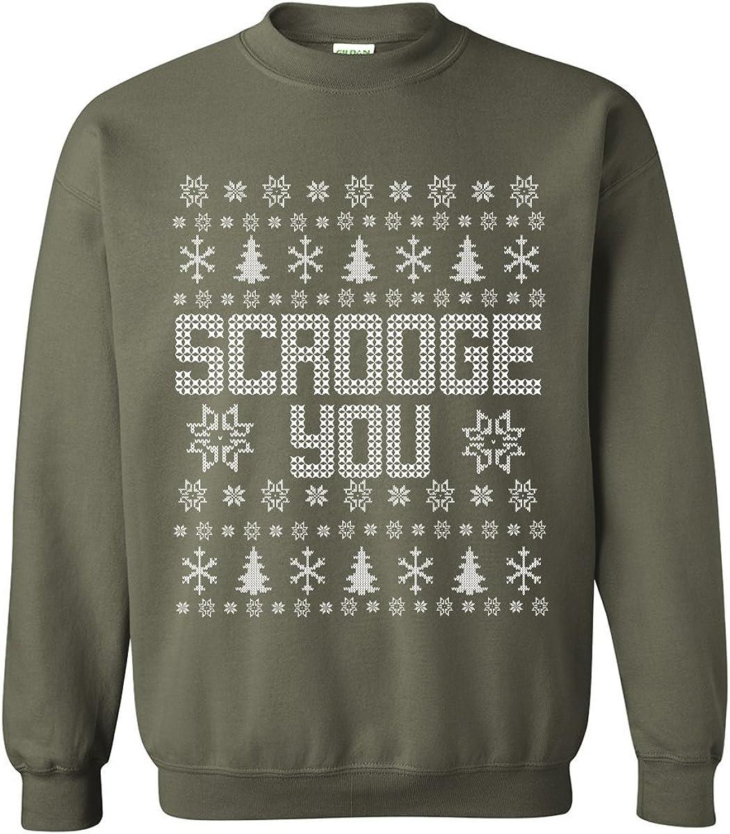 zerogravitee Scrooge You Ugly Holiday Sweatshirt Crewneck Sweatshirt