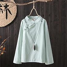 Liziqi tradycyjna koszulka na co dzień z pełnym rękawem chińska bluzka damska topy spodnie bawełniana pościel starożytny s...