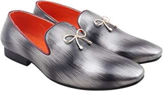 Myung Glamo Fasho Silky Silver Men's Loafer