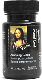 Speedball Mona Lisa Antiquing Glaze for Metal Leafing Projects – Made in USA – 2 Ounces