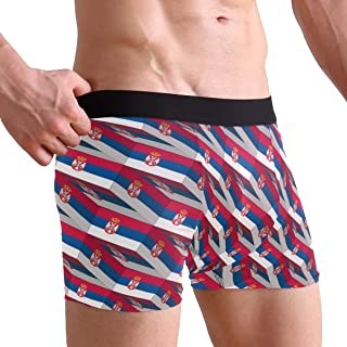 Hipster Unique Cat Stars FlagBoxer Briefs Mens Underwear Boys Breathable Stretch Low Rise