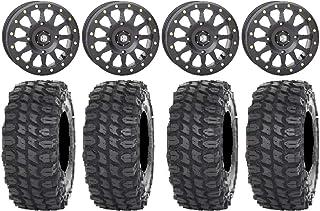 "Bundle - 9 Items: STI HD A1 Beadlock 15"" Wheels Black 32"" X COMP Tires [4x156 Bolt Pattern 3/8x24 Lug Kit]"