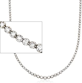 Ross-Simons 3.00-3.45 ct. t.w. Graduated Diamond Tennis Necklace in 14kt White Gold