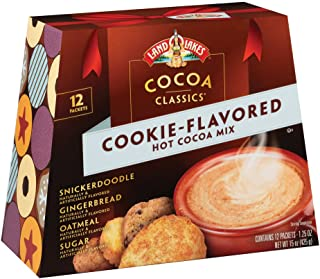 Land O Lakes Cocoa Classics, Cookie Flavored Hot Cocoa Mix Variety Pack, 1.25 Ounce , 12 Count