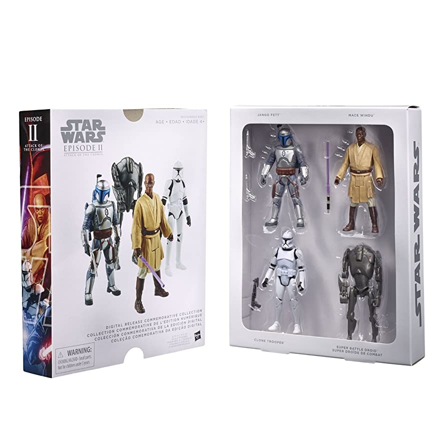 口実ベッドを作るパネルSTAR WARS Digital Release Commemorative Collection Box Set - Episode 2 Attack of the Clones 3.75-Inch Figures [並行輸入品]