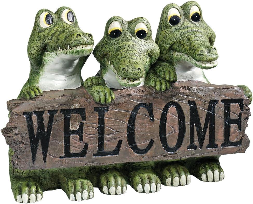 Design Toscano EU10544 Ragin' Cajun Limited time sale Statue Welcome Crocodile 40% OFF Cheap Sale Ful