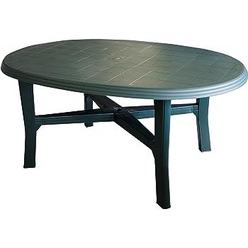 Arredi Da Giardino Plastica.Tavolo Da Giardino 165 X 110 Cm Ovale Verde Plastico Terrazza Tavolo Tavolino Camping Mobili Da Giardino Terrazza Mobili Da Campeggio Mobili Tavolo In Plastica Amazon It Giardino E Giardinaggio
