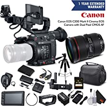 Canon EOS C200 Cinema Camera 2215C002 & 24-70mm f/2.8L II USM Lens with Memory Card, Case, Tripod, and - Starter Bundle