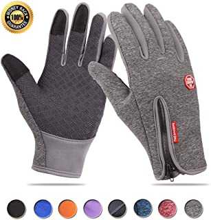 Achiou Touchscreen Winter Gloves for Warm iPhone iPad Bicycling Cycling Driving Anti-Slip Gloves Running Hiking Climbing S...