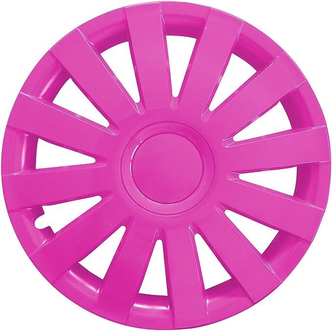 Eight Tec Handelsagentur Farbe Größe Wählbar 4er Set 16 Zoll Agat Pink Radkappen Radzierblenden Radabdeckungen Universal Auto
