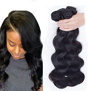 Dream Show Brazilian Human Hair Body Wave 100% Hair Extensions Weft Weave Natural Color 3 Bundles/lot, 300g Total (100g Each) Grade 7A(8 10 12)