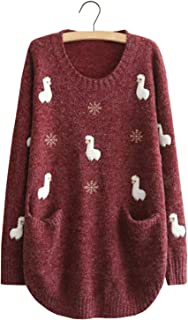 alpaca print sweater