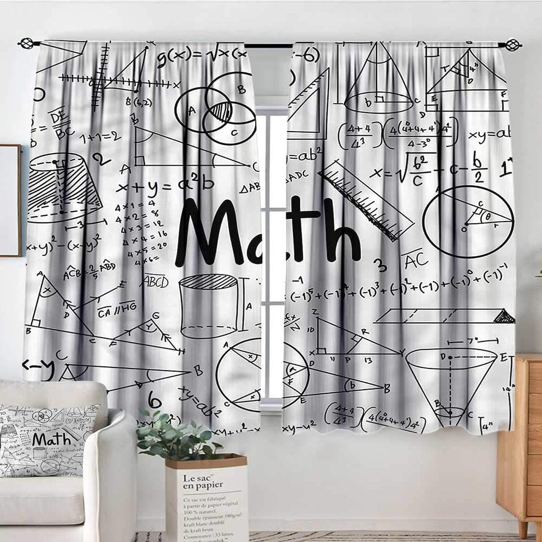 Mathematics Classroom,Curtains Math Icons 42 X63  Therma Room Darkening Indo Curtains
