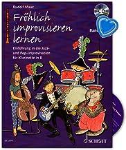 Aprendizaje alegre improvisar banda 1 – una introducción en la prueba de jazz y pop especialmente para clásicos – curso de aprendizaje con CD y pinza para partituras