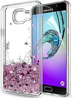 b961f113cdd LeYi Funda Samsung Galaxy A5 2016 Silicona Purpurina Carcasa con HD  Protectores de Pantalla,Transparente