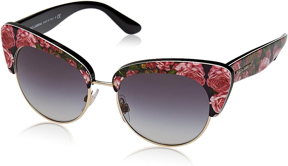 Dolce & gabbana, occhiali da donna, in acetato, lenti  grigio sfumato, con effetto specchio DG4277 C52