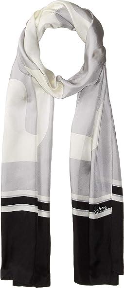 Echo Varsity Silk Oblong Scarf