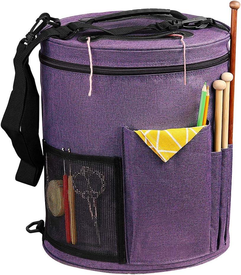 SumDirect Knitting Bag Max 59% OFF Indefinitely Yarn Organizer Storage Tote Portable