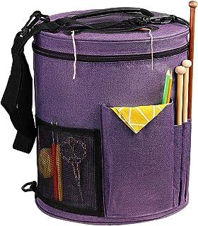 SumDirect Sac à Tricoter Sac Fourre-Tout pour Le Stockage de la Laine Sac Crochet Tricot