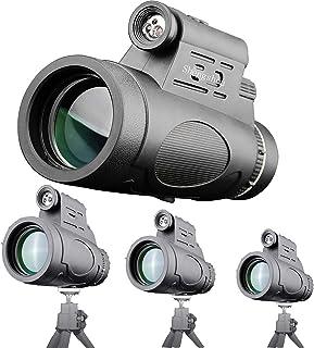 単眼鏡 望遠鏡 たんがんきょう高倍率 12 × 50高倍率 12倍 50口径 広角 単眼望遠鏡 高解像度 コンサート バードウォッチング スマートフォンアダプター 防水霧 耐衝撃 スマートフォン対応 固定用三脚付き マルチモノキュラーシリーズ