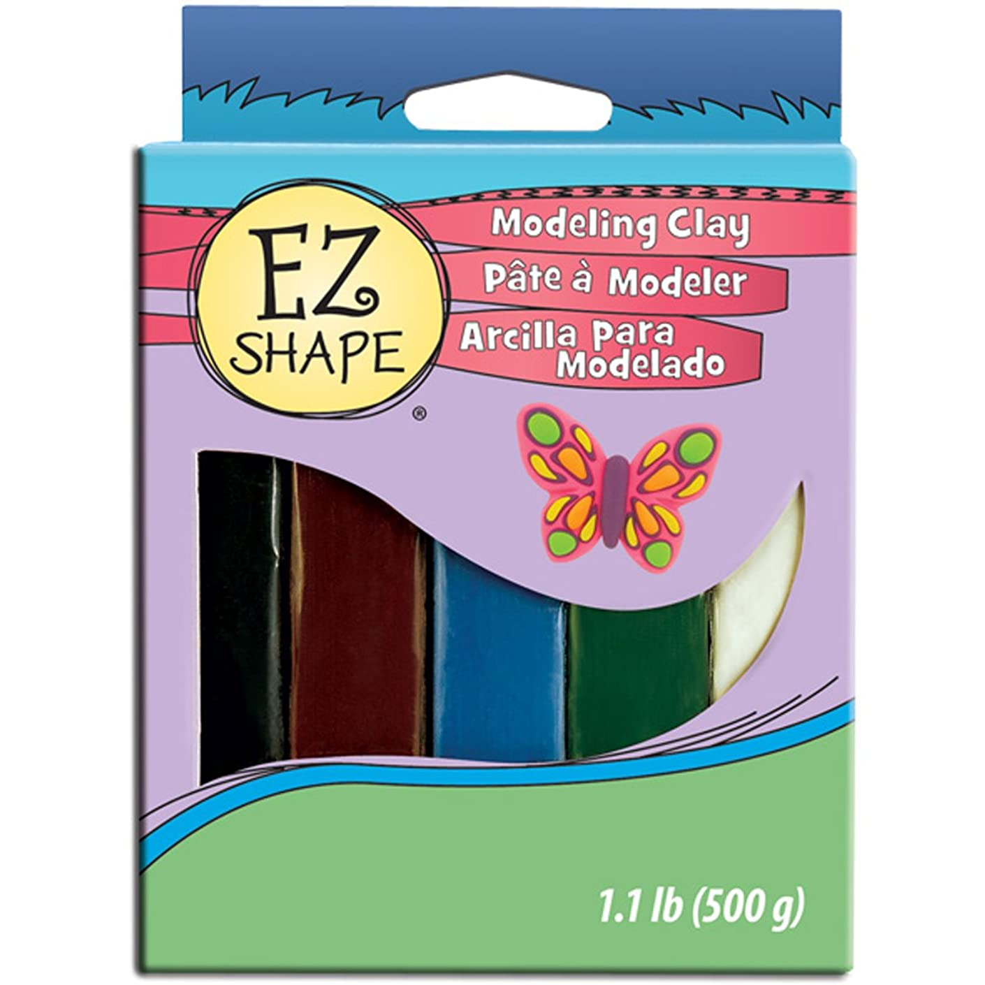 Polyform Shape Modeling Clay Non-Hardening, 1-Pound, Natural, 5-Pack