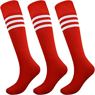 Knee Length Striped Unisex Sports Socks Multicolor 3/6/12 Pairs