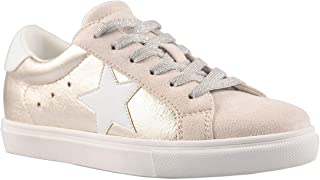PARTY Women's Fashion Star Sneaker Lace Up Low Top Comfortable Cushioned Walking Shoes