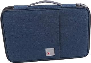Botreelife Business Document Bag Waterproof Briefcase Office Handbag File Bag Multi Purpose Usage for Files Folder for Women Mens,Navy Blue