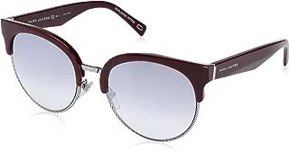 Marc Jacobs Women's Marc 170/S IC LHF 54 Sunglasses, Burgund Opal/Grey MS SLV