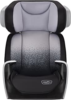 Evenflo Spectrum 2-in-1 Booster Seat, Ergonomic Seat Base, Machine Washable, High-Back Booster, No-Back Booster, Advanced Compression Technology, Side-Impact Tested, Foggy Gray