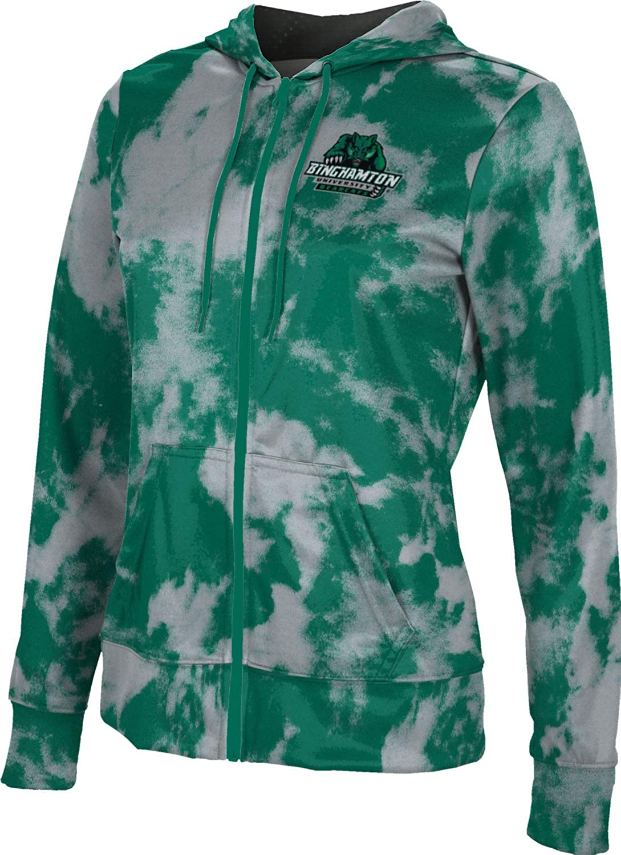 ProSphere Binghamton University Girls' Zipper Hoodie, School Spirit Sweatshirt (Grunge)